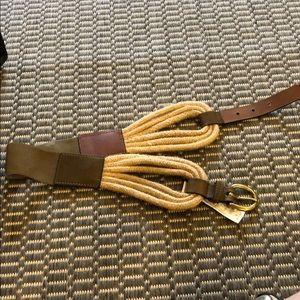 Accessories - Brown rope belt
